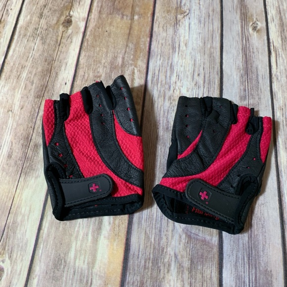 Women s Hot Pink workout gym gloves 44ae3259f0